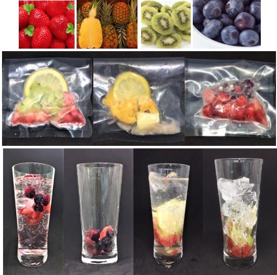 「果実フレーバー」で 、インスタ映えするヘルシーなバリエーション豊かなドリンク類が手軽に作れます。