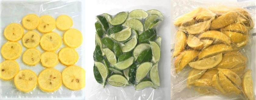 冷凍レモン スライス、串切り バラ凍結(IQF)業務用 冷凍レモンならNORUCA.com